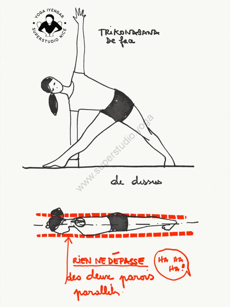 alignement lateral asanas trikonasana